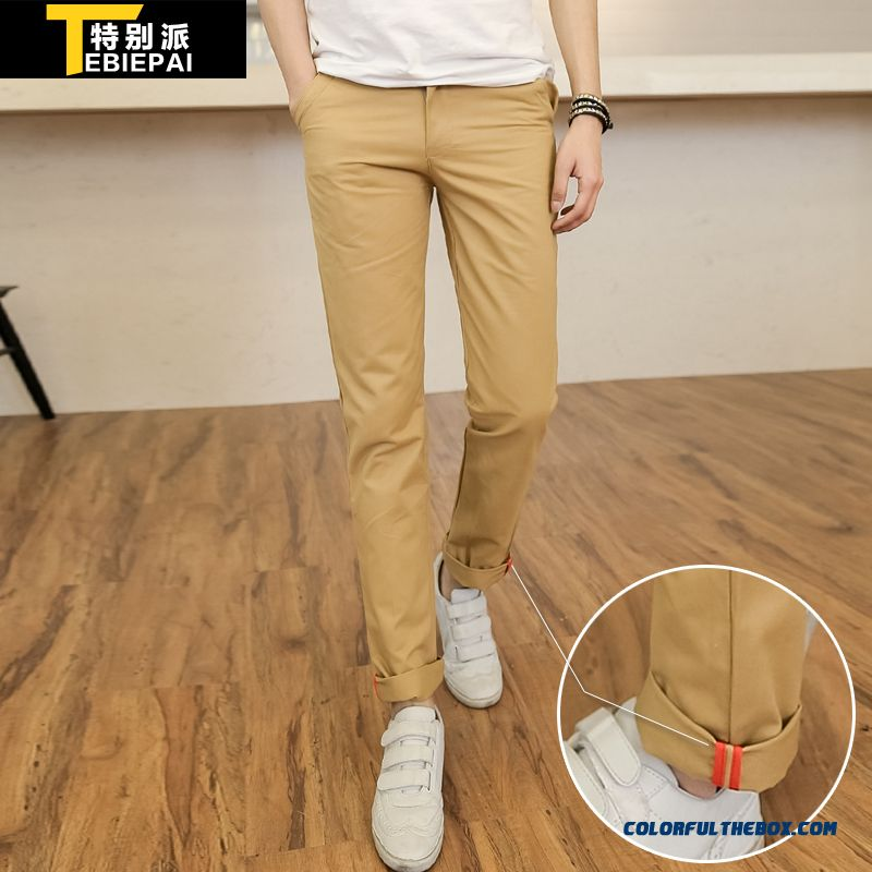 New Korean Version Slim Straight Casual Men Clothing Casual Long Pants Tide