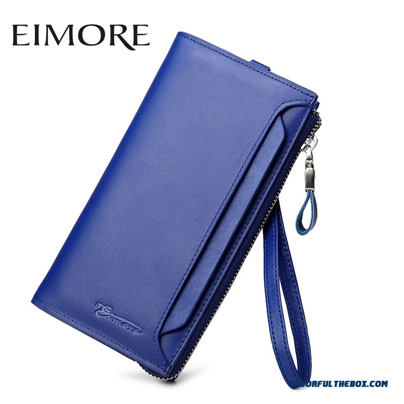 New Lady Wallet Long Section Of Women Models Zip Leather Wallets Women's Thin Section Clutch Bags