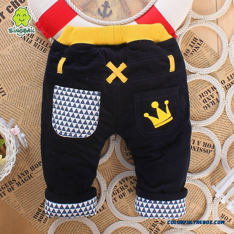 New Listing Baby Winter Thick Warm Kids Cotton Pants Boys Pants
