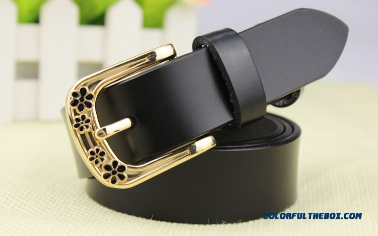New Listing Pretty Stylish Women's Accessories Pure Leather Pin Buckle Decorated Jeans Blets Fashionable Wide Cummerbunds