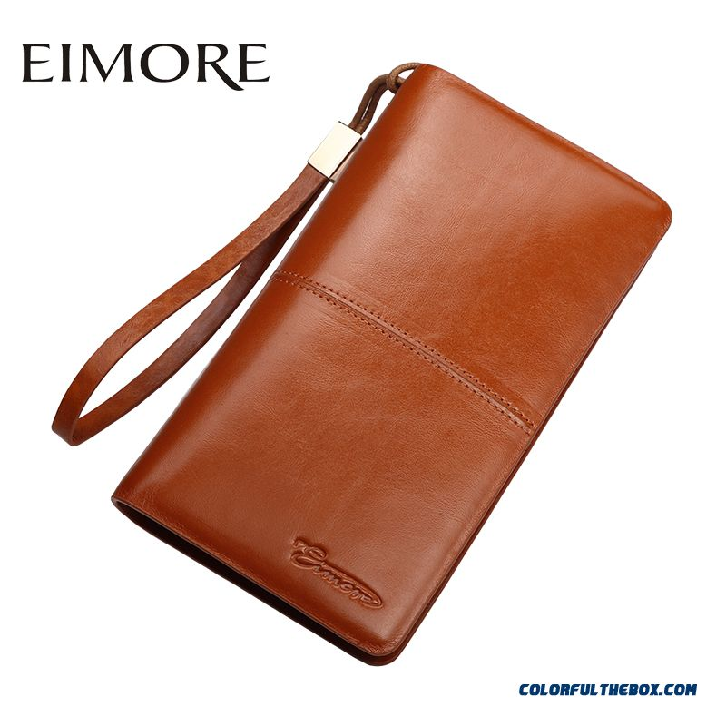 New Long Section Of Lady Women Wallet Genuine Leather Wallets Thin Simple Zipper Wallets Bags