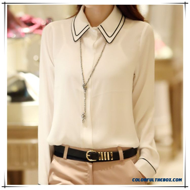 New Long-sleeved Chiffon Blouse Large Size Women's Occupational Slim Shirt Fashion Casual