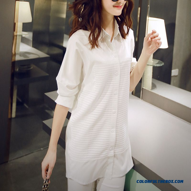 New Loose Large Size Medium Style Of Long-sleeved Shirt Slim And Thin Bottoming Shirt