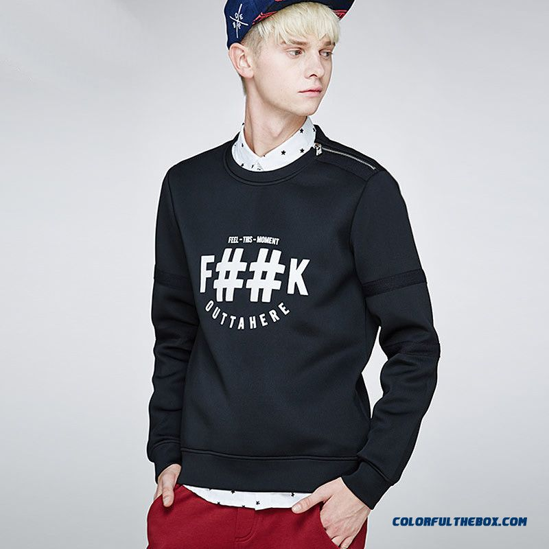 New Men Tee Pullover Fashion Letters Printed Sweatshirts Coats Tide
