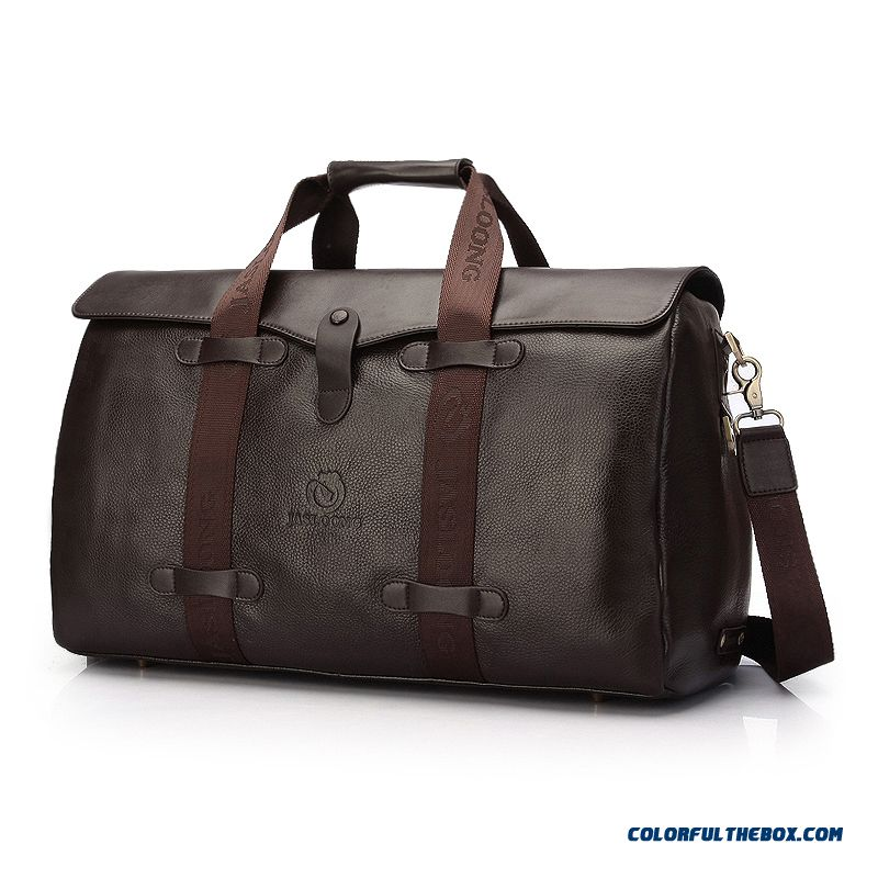 New Men's 100% Leather Handbag Leather Travel Bag Large Capacity Bags Gigh Quality Luxury