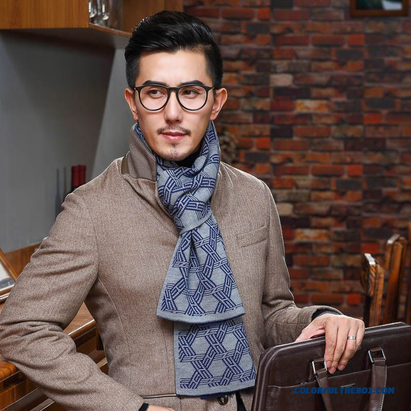 New Men's Wool Cashmere Scarves High Quality Free Shipping Designed Specifically For Mature Men