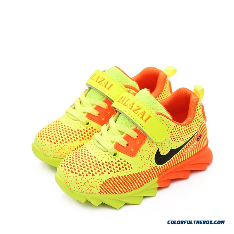 New Mesh Breathable Sports Running Shoes Girls Colorful Lightweight Fashion Student Kids Shoes