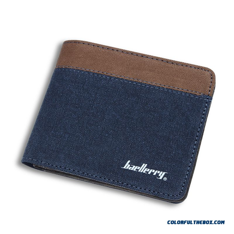 New Multi-function Card Wallet Men Canvas Casual Ultrathin Short Wallets Bags Cheap