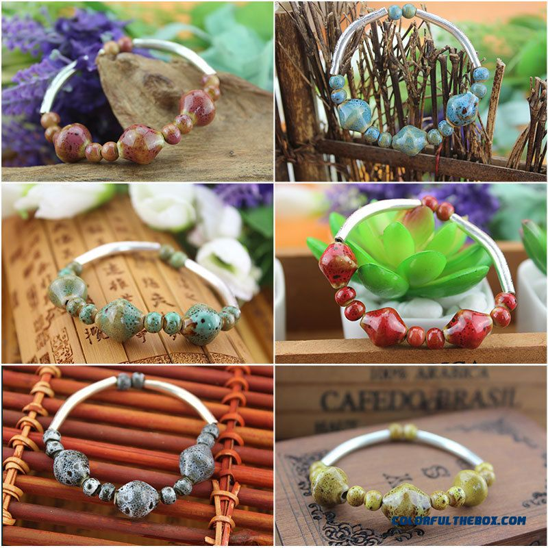 New Original Hand Made Ceramic Bracelet Jewelry Gifts Hot Bangles Women