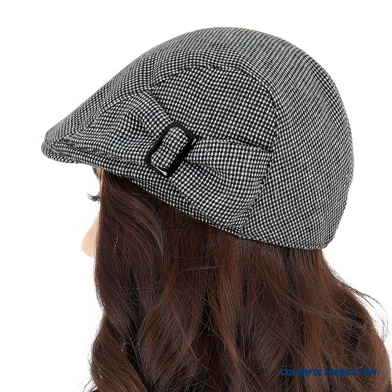 Cheap New Peaked Cap Women Fashion Ladies Black And Gray