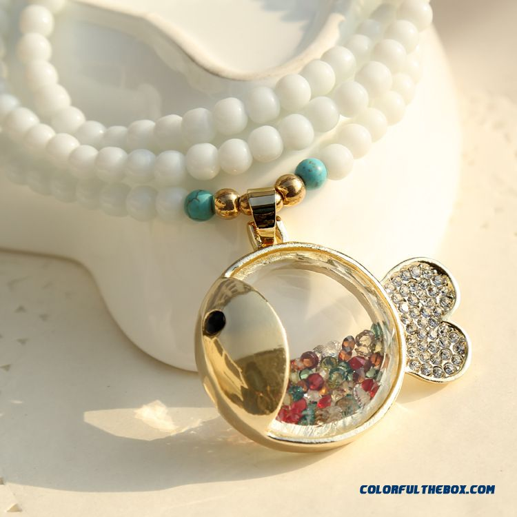 New Pendant Through Crystal Diamond Carp Every Year More Than Women Fashion Jewelry