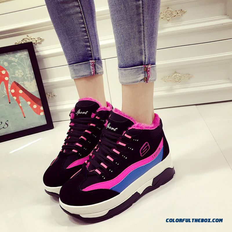 New Plus Velvet Thick Bottom Running Women Casual Shoes Fashion