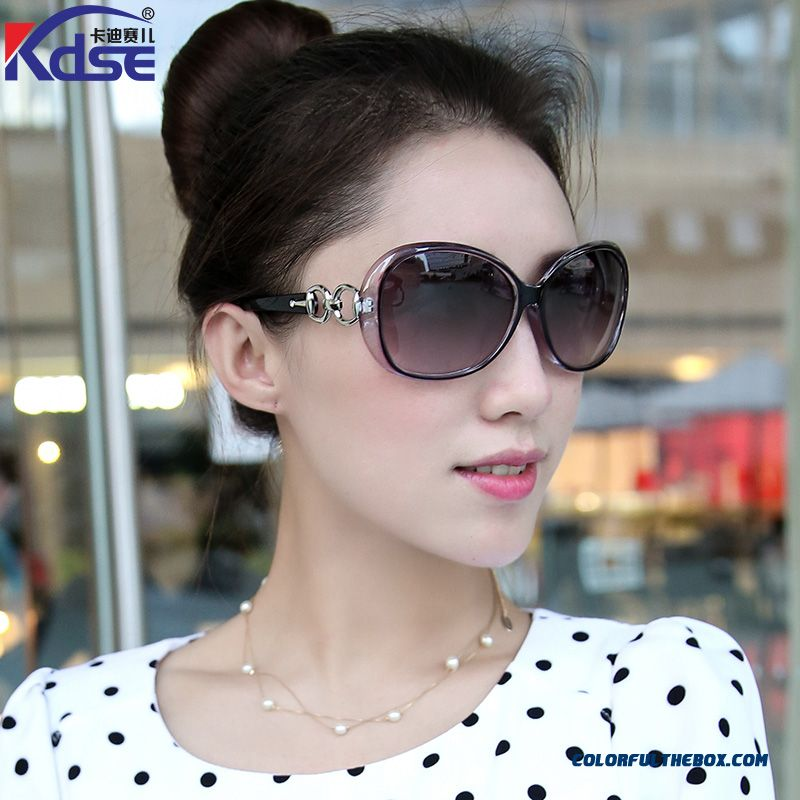 New Polarized Sunglasses Women Star Elegant Round Face Sunglasses Anti-uv Sunglasses Accessories