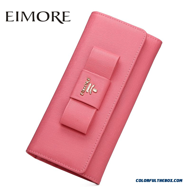 New Popular Portable Two Fold Hasp Women Long Wallet Large-capacity Cowhide Wallets Bags