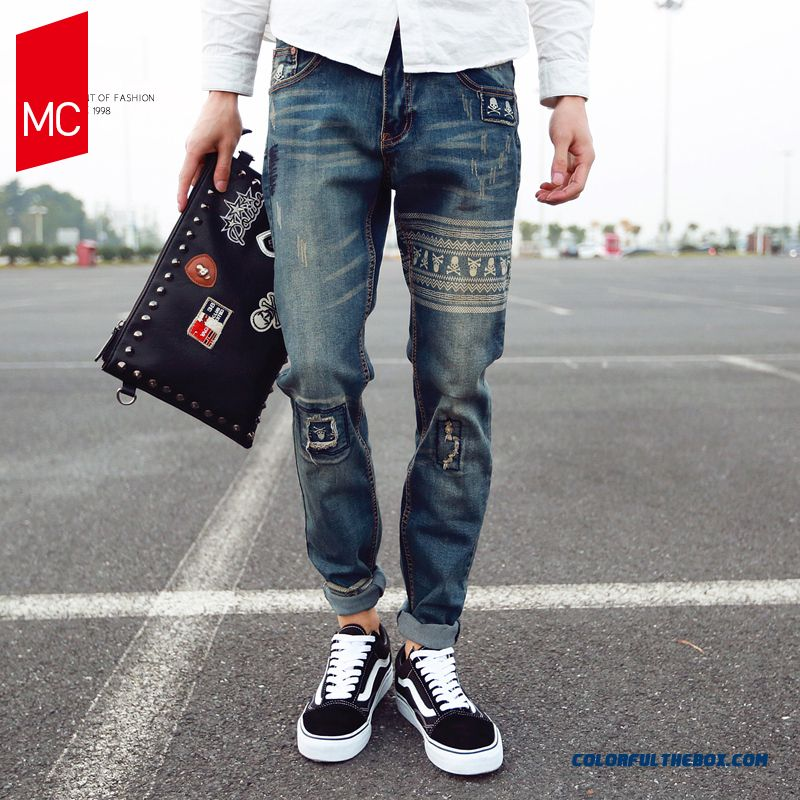 New Ripped Jeans Men Summer Comfort Sports Free Shipping