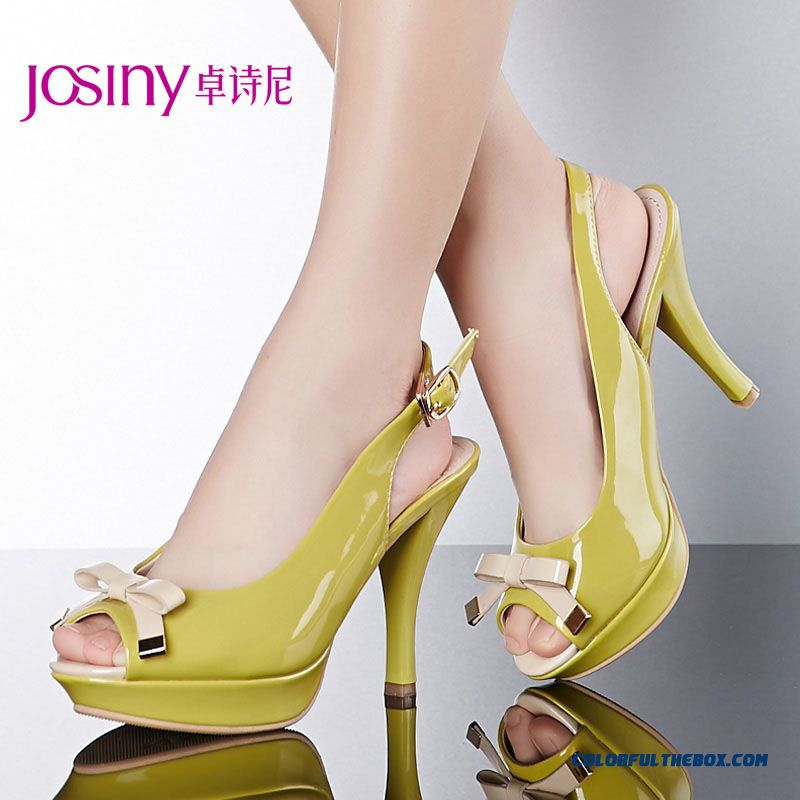 New Sandals Sweet Bow-tie Decorated Higher And Fine Heel Casual Women Shoes