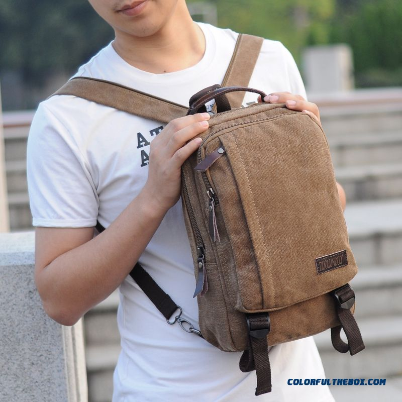 New Scratch-resistant And Four-season Canvas Backpack Used By Men Free Shipping Bags