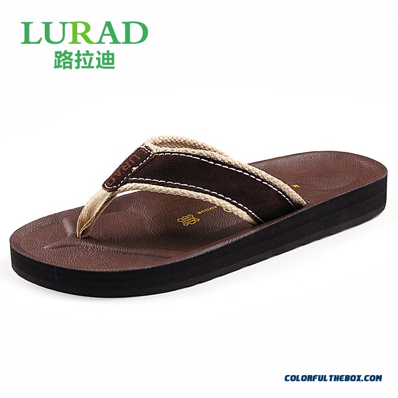 New Shoes Leather Wear Resistant Heavy-bottomed Slippers For Men