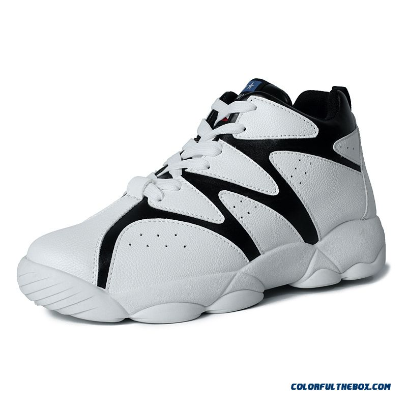 New Simple And Stylish Spell Color Antiskid Men Basketball Shoes