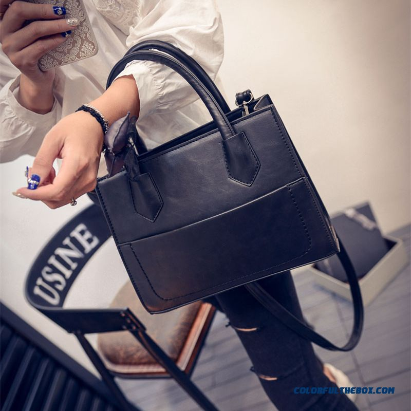 New Simple Lady Bags Solid Women Shoulder Bags European And American Fashion Trend
