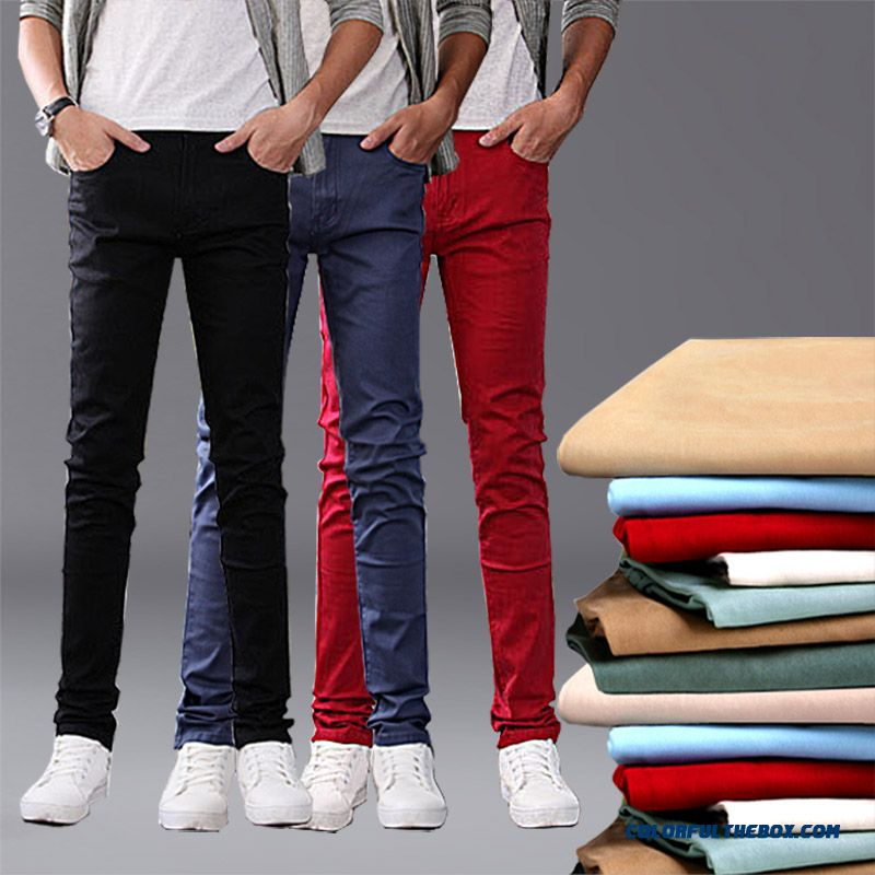 New Slim Casual Men Pants Black Red Special Offer Free Shipping