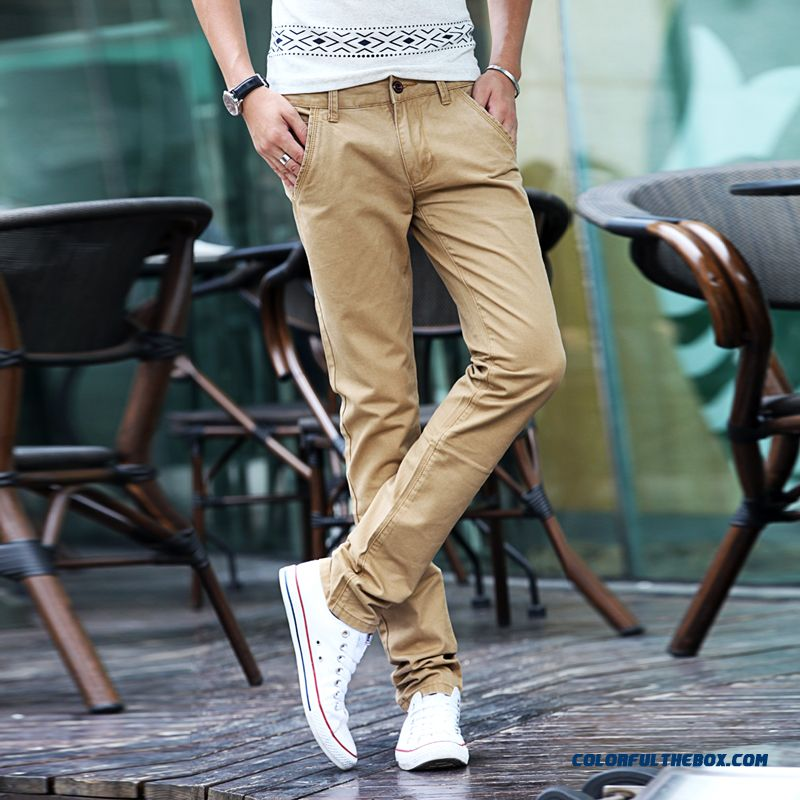 New Slim Long Straight Casual Korean Version Men's Pants