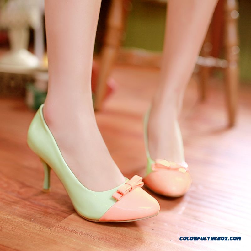 New Spell Color Women Shoes Shallow Mouth Pointed Pumps Free Shipping