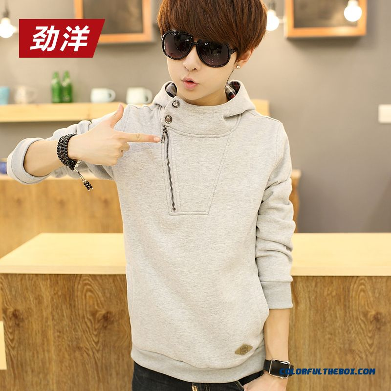 New Spring And Autumn Pullover Sweatshirts Thin Cotton Men Hoodie - more images 1