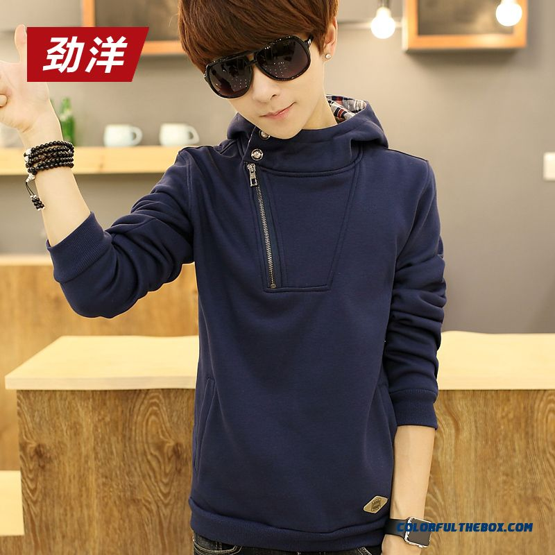 New Spring And Autumn Pullover Sweatshirts Thin Cotton Men Hoodie - more images 2