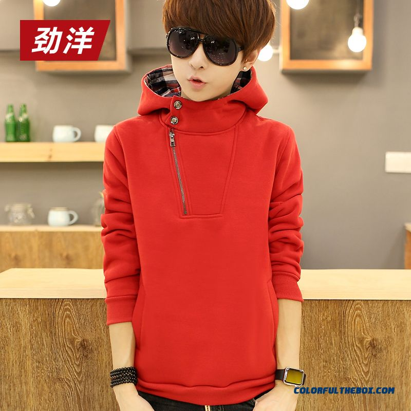 New Spring And Autumn Pullover Sweatshirts Thin Cotton Men Hoodie - more images 3