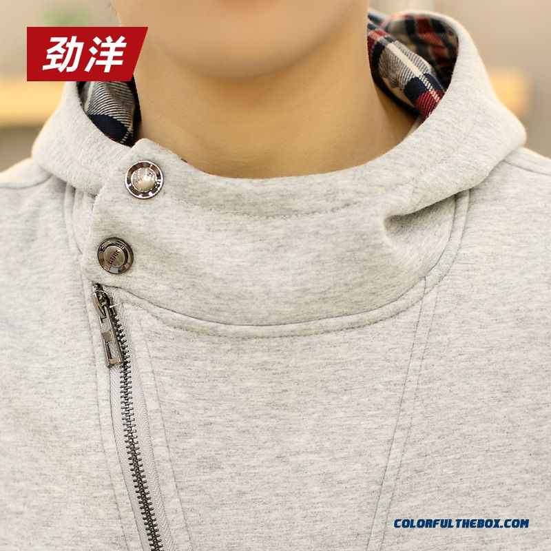 New Spring And Autumn Pullover Sweatshirts Thin Cotton Men Hoodie - more images 4