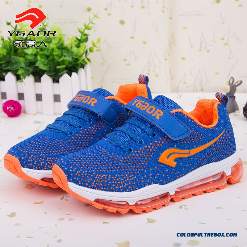 New Spring Shoes Boys Sports Shoes Air Cushion Shock Absorption Basketball Shoes 2016