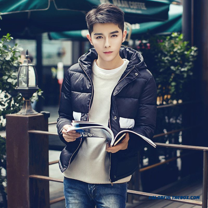 New Style Men Hooded Casual Fashion Young Jacket Cottom Coats