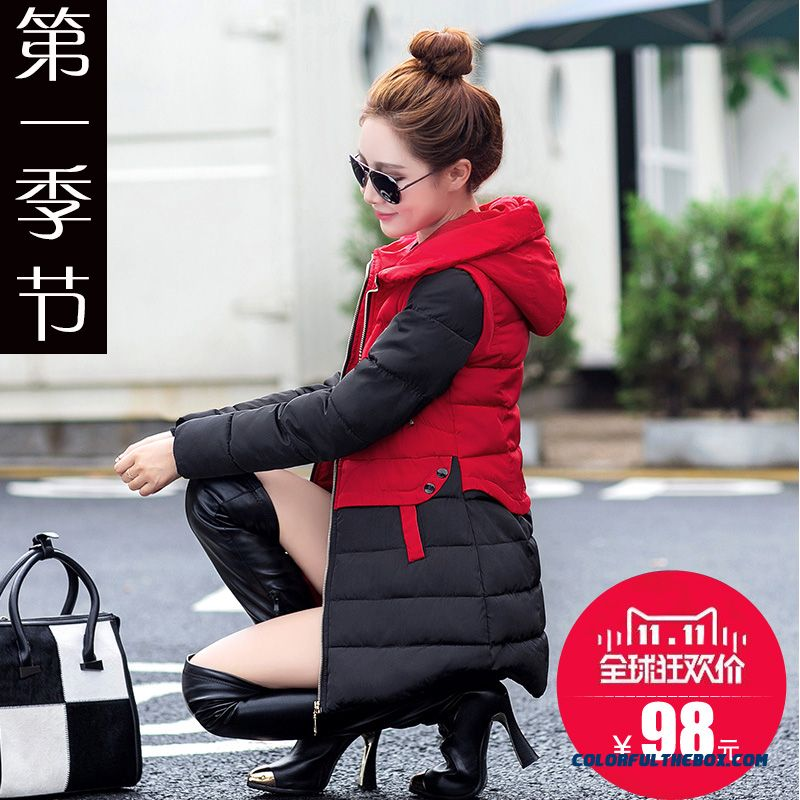 New Style Women Clothing Jackets Slim Coats Thick Fashion Green Red