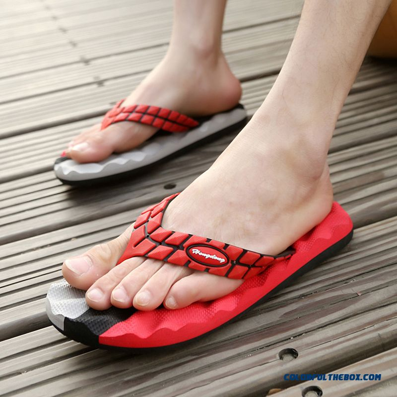 New Summer Flip Flops Antiskid Massage Breathable Men's Slippers