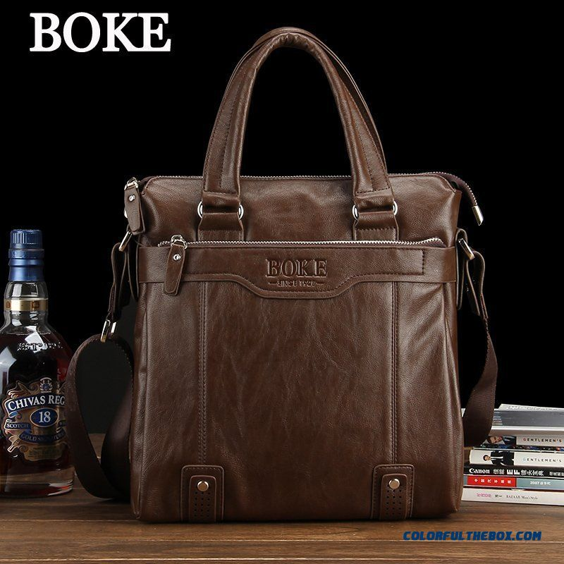 New Summer Handbag Men's Bag Men Horizontal Style Of Shoulder Bags 28x39x7cm Briefcase