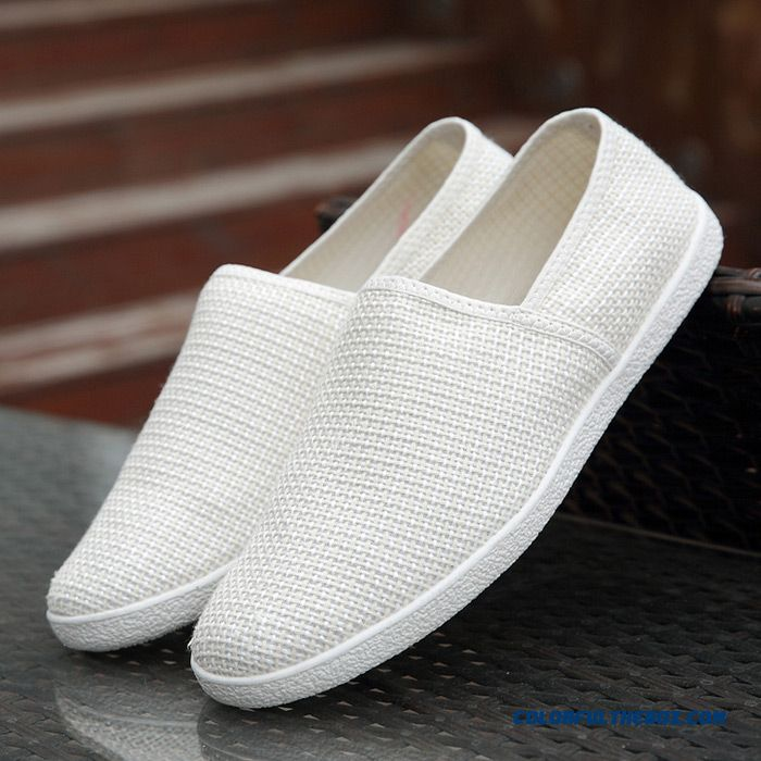 New Summer Mens Canvas Shoes Breathable Slip-on Flats Fashion Casual Man Soft Loafers Moccasins Driving Flat Shoes