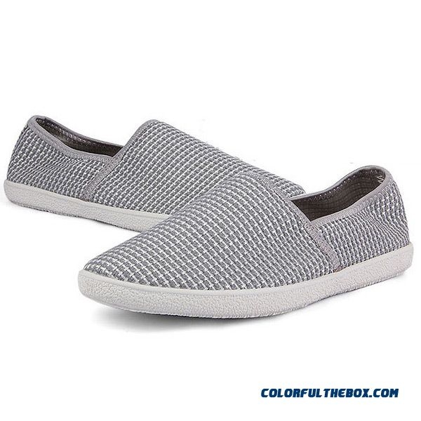mens casual white slip on shoes canvas