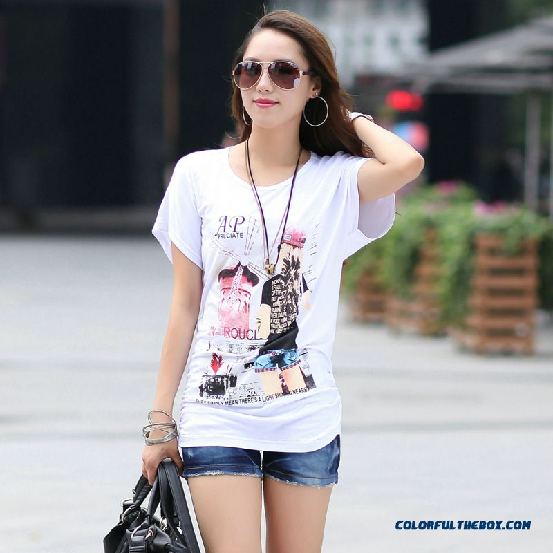 New Summer Short-sleeved T-shirt Cotton Women Soft And Comfortable Blouses