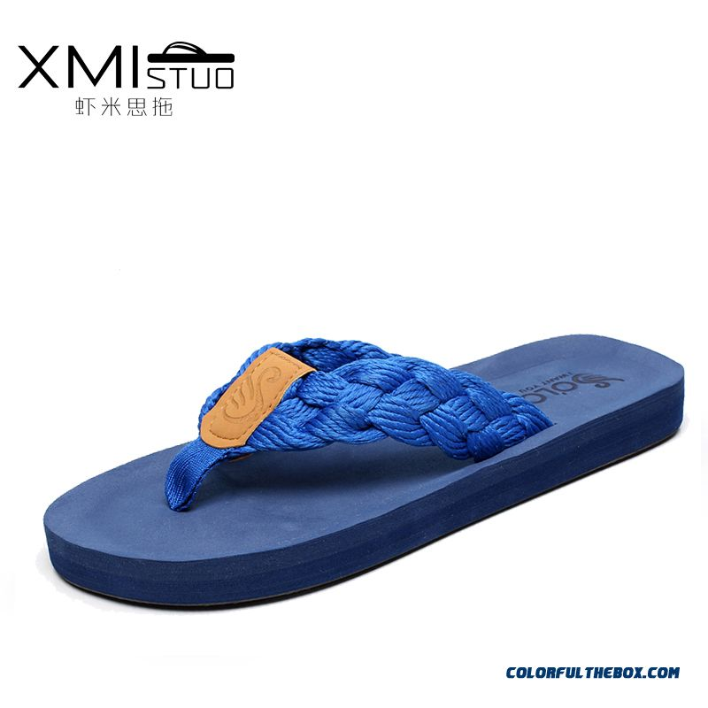 New Summer Tide Slippers Men Antiskid Flip-flops Thick Bottom Toe Clip Slipper
