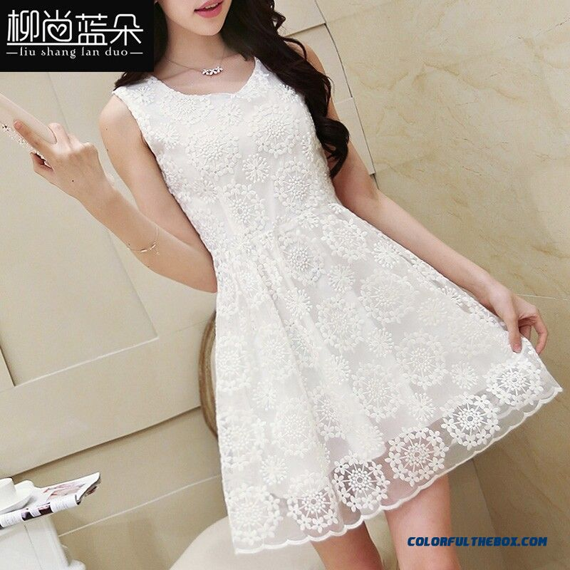 New Summer Women Dress Sexy White Lace Elegant Free Shiipping