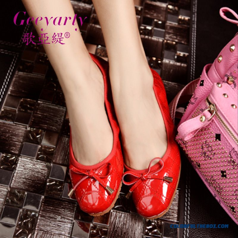 New Sweet Bow-tie Ladies Comfortable Flats Shallow Mouth Shoes