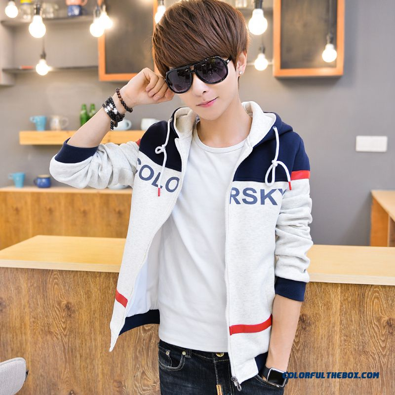 New Teen Hooded Sweatshirts Cardigan Thin Letters Hot Selling Free Shipping