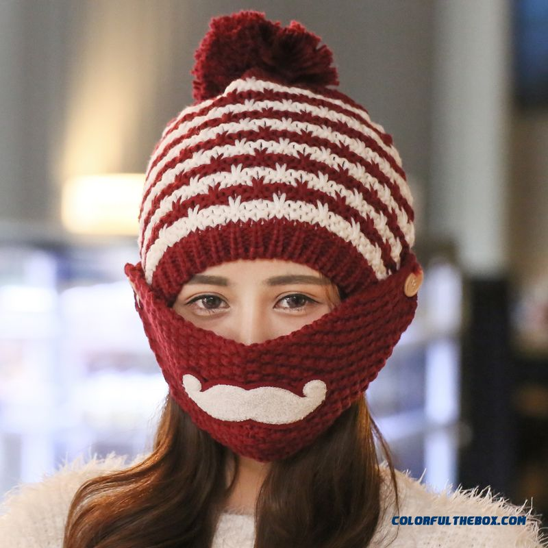 New Thick Warm Winter Plus Velvet Ear Protection Wool Hat Hat Knitted Hat Use By Women Cyclist