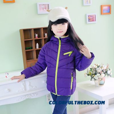 New Thin Cotton Jacket 3-8 Boys And Girls Down Jacket Padded Winter Clothing With Zipper