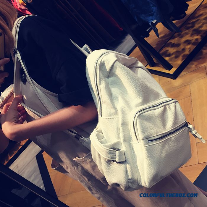 New Trend Of Ladies Upscale Retro Fashion Washed Leather Schoolbags Women  Backpack ... 965503dfa5d63
