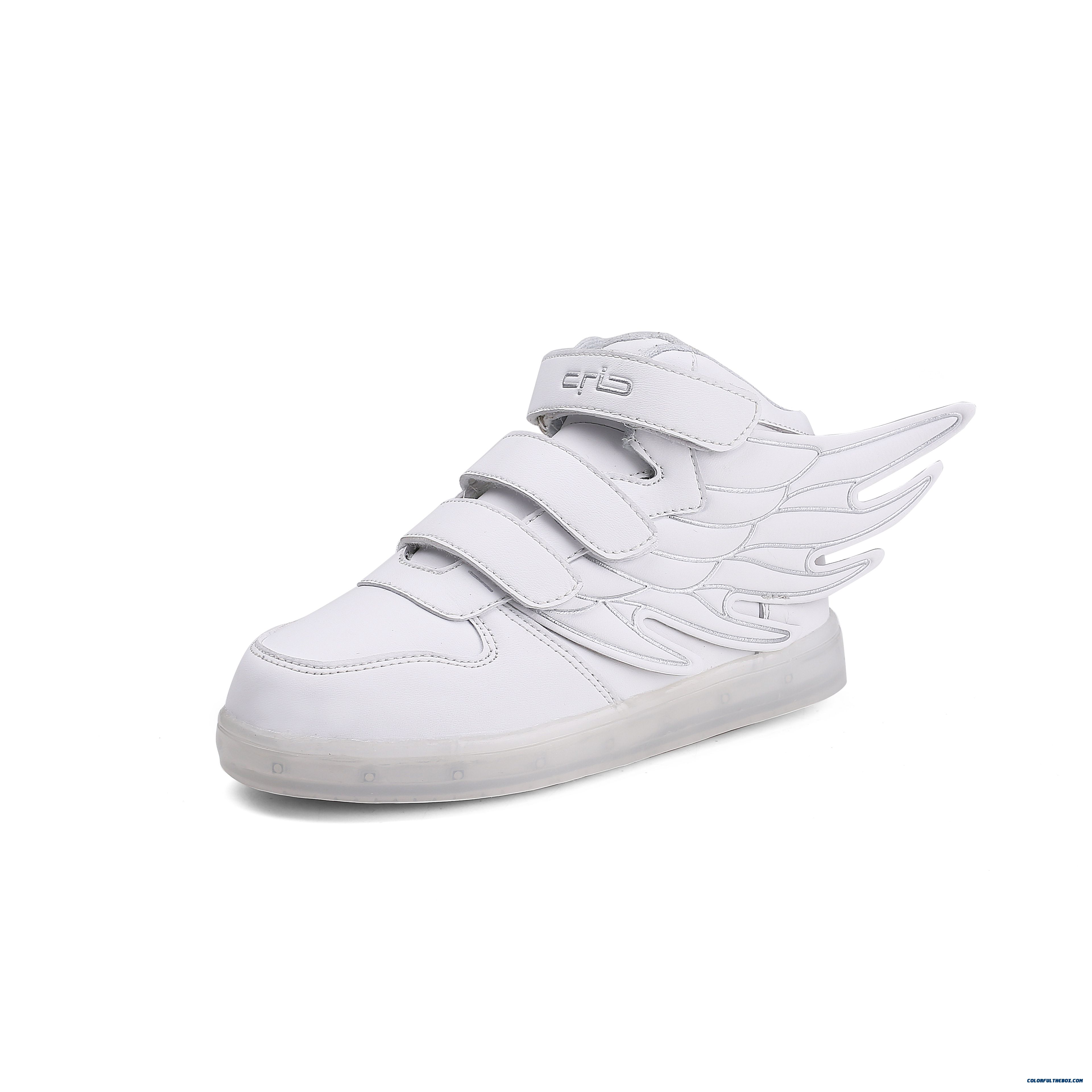 New Trend Of Sports Kids Bpys Shoes Luminous Skateboarding Shoes Running Shoes Winged Modeling Design