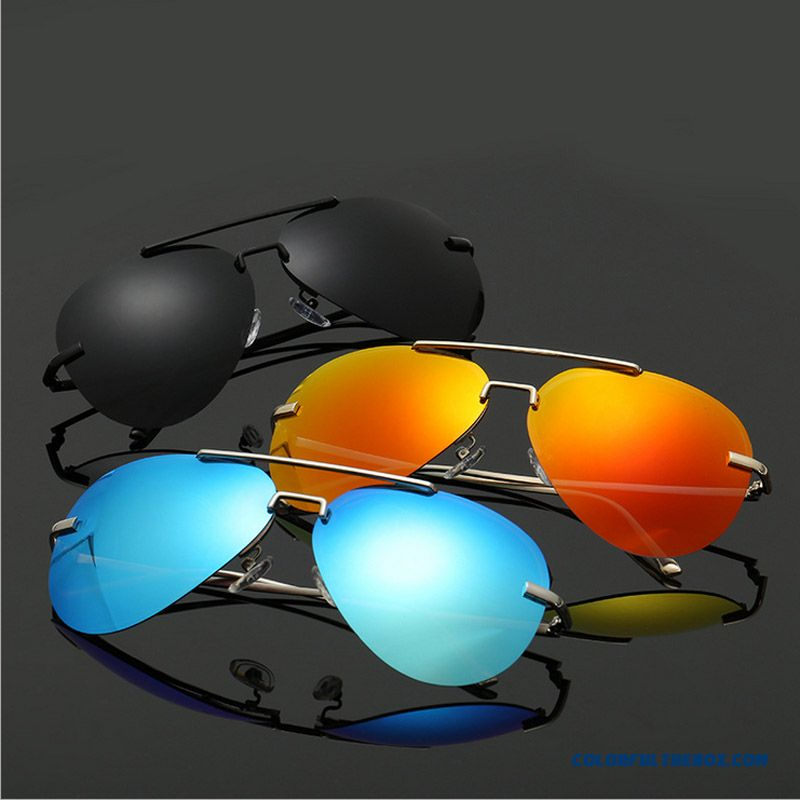 New Unisex Rimless Polarizer Sunglasses Colorful Glasses Women Driver Accessories