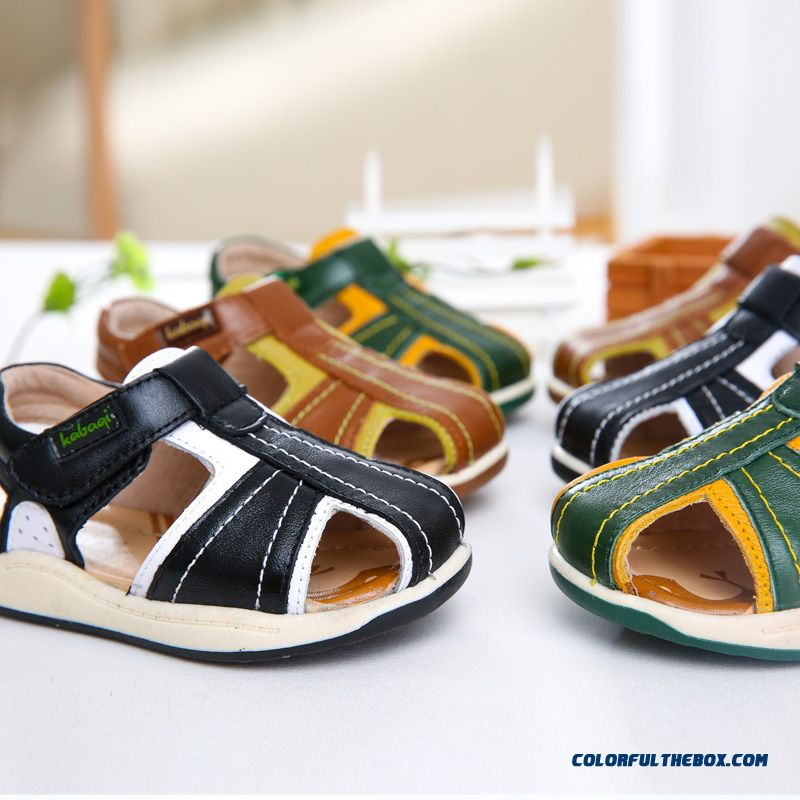 New Utility Designed Anti-slip Baby Toddler Leather Sandals Anti Kick Kids Shoes