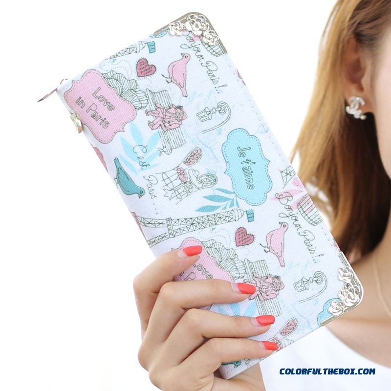 New Version Zipper Printed Clutch Women's Wallet Long Tide Free Shipping - more images 1